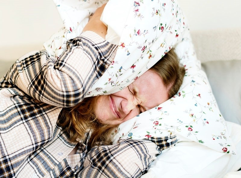 Caucasian woman with sleeping problem
