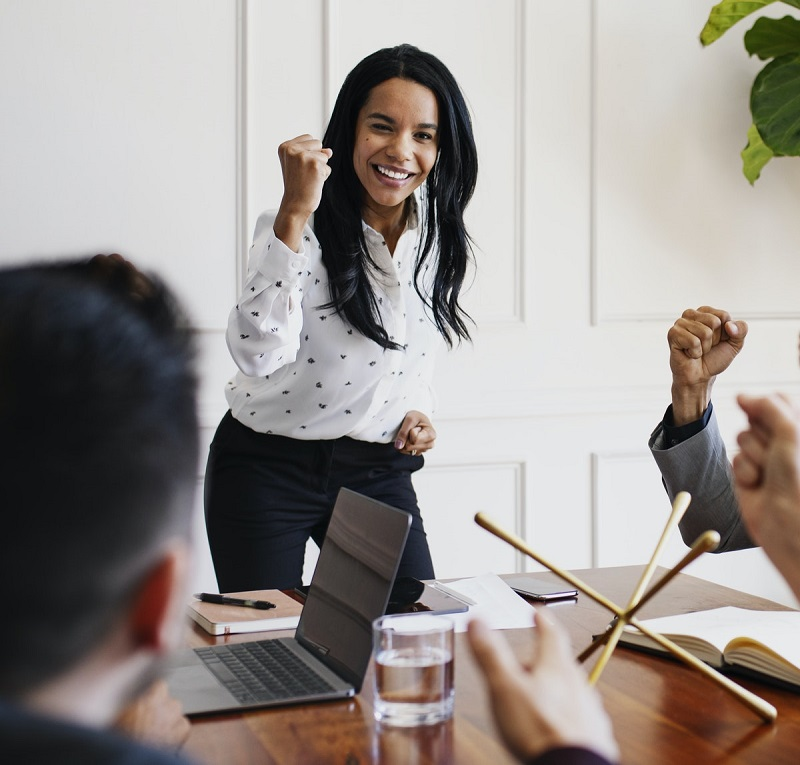 woman being ambitious - success habits